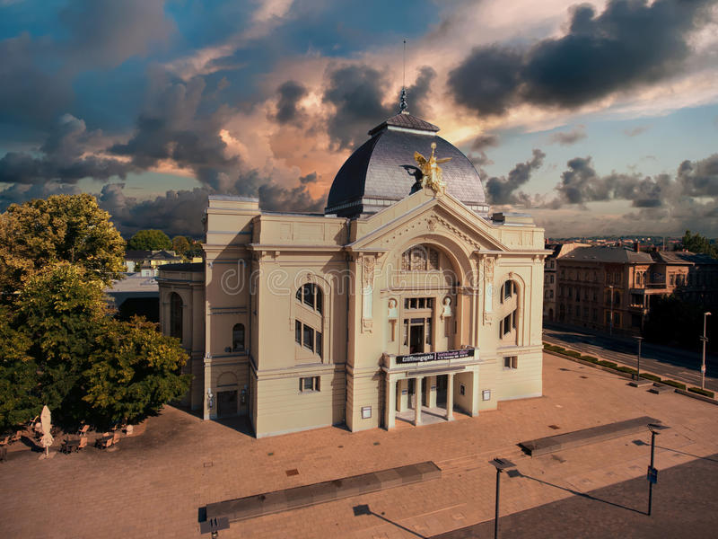 Download Theatre Gera Aerial View Town Tourism Architecture Editorial Photography - Image: 79668752
