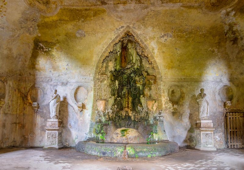 The theatre of the Great Fountain, Palatine Hill royalty free stock images