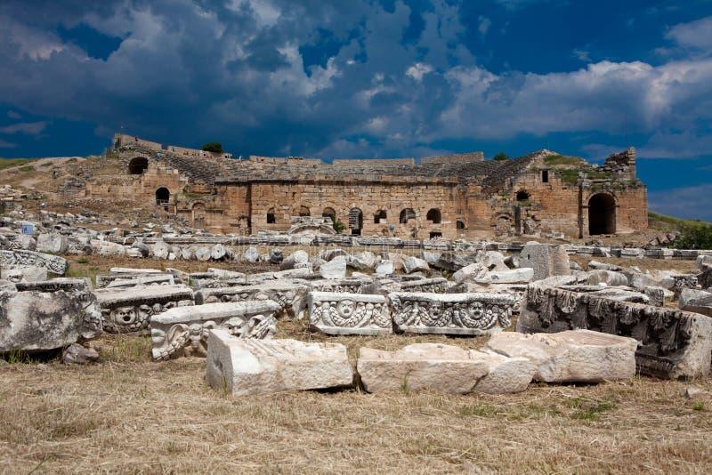 Theatre in Hierapolis stock photography