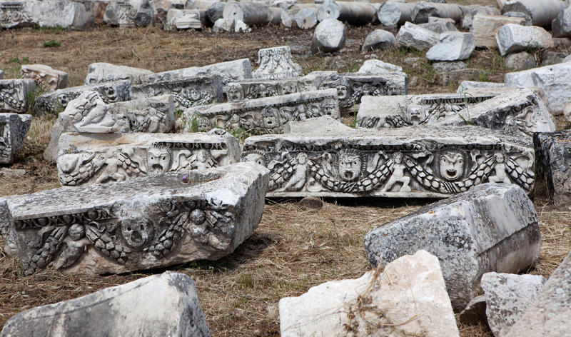 Theatre in Hierapolis royalty free stock image