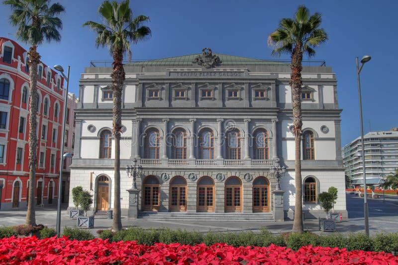 Theatre in Las Palmas de Gran Canaria, Spain royalty free stock photography