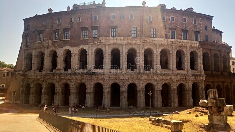 The Theatre of Marcellus Rome. royalty free stock images
