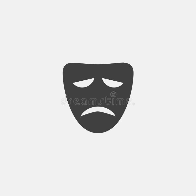 theatre mask icon royalty free illustration