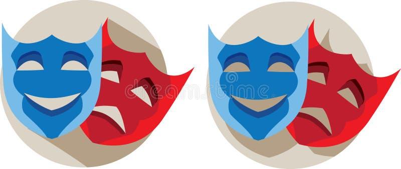 Theatre maski ilustracji