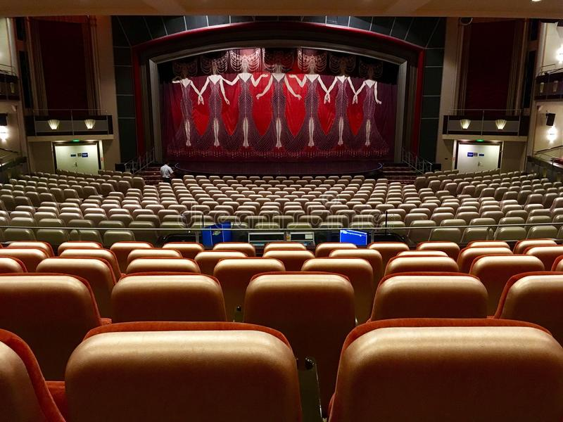 Theatre onboard cruise ship Liberty of the Seas stock photography