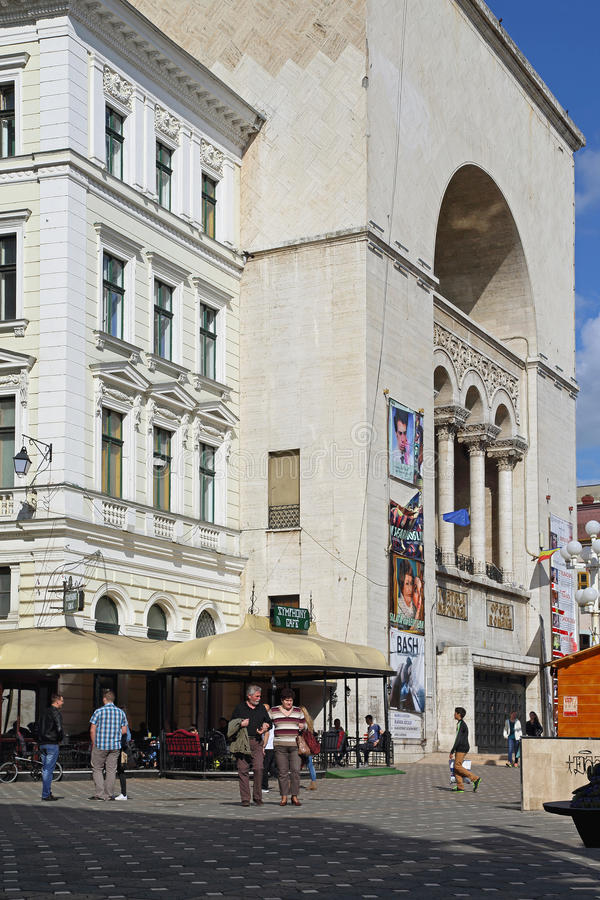 Theatre and Opera Timisoara royalty free stock images