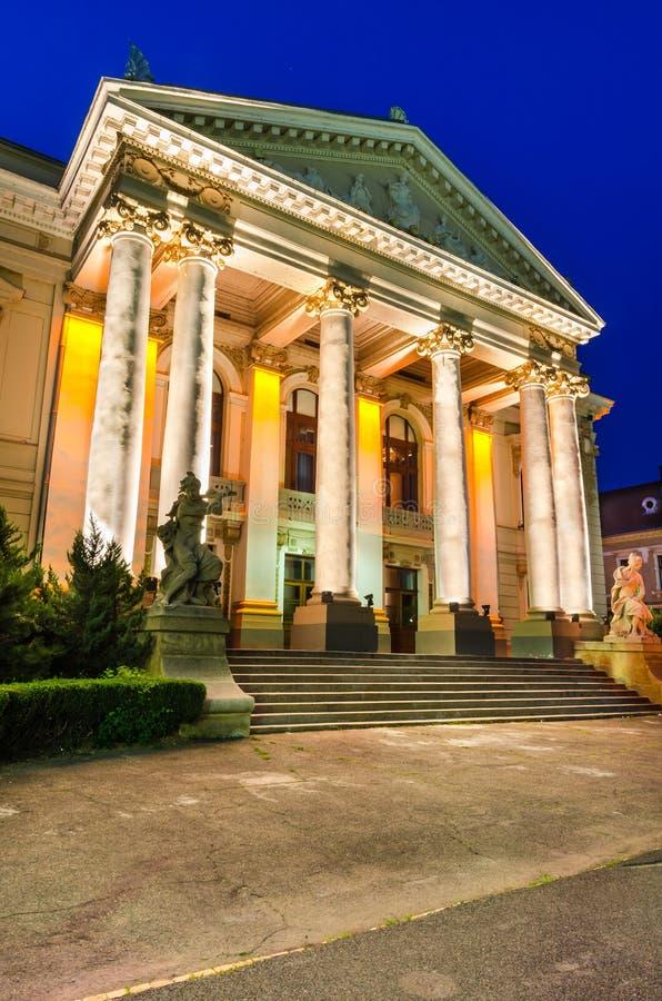 Theatre of Oradea twilight, Romania royalty free stock image