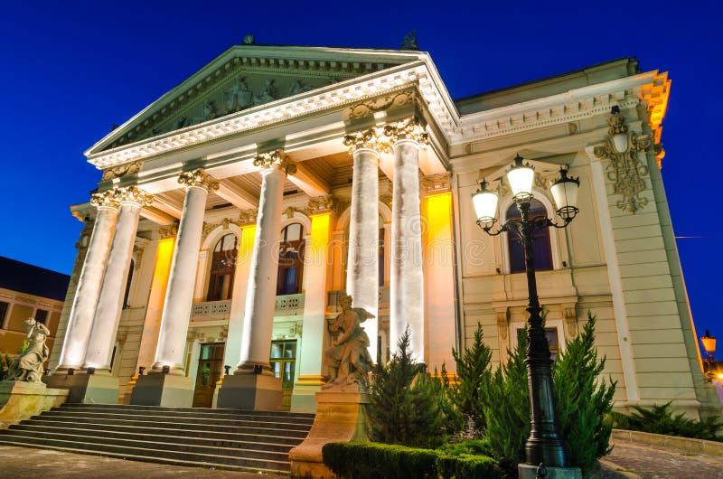 Theatre Oradea zmierzch, Rumunia obrazy royalty free