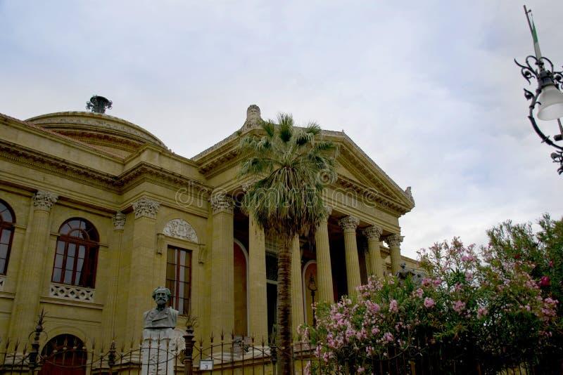 Theatre of Palermo, Sicily. Majestic Teatro Massimo of Palermo, Sicily stock photos