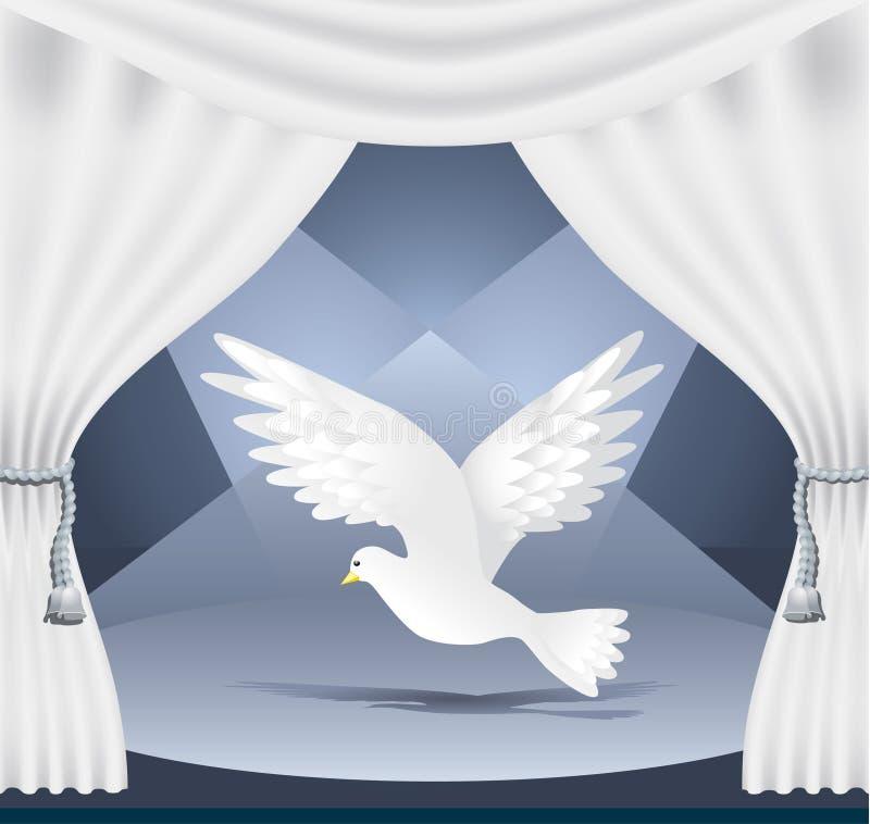 Theatre_pigeonhen illustrazione vettoriale