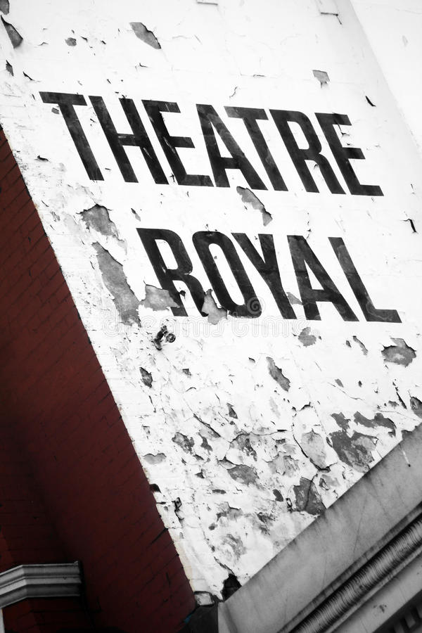 Theatre Royal Brighton. Old Fasioned Theatre Scene Brighton West Sussex England royalty free stock photos