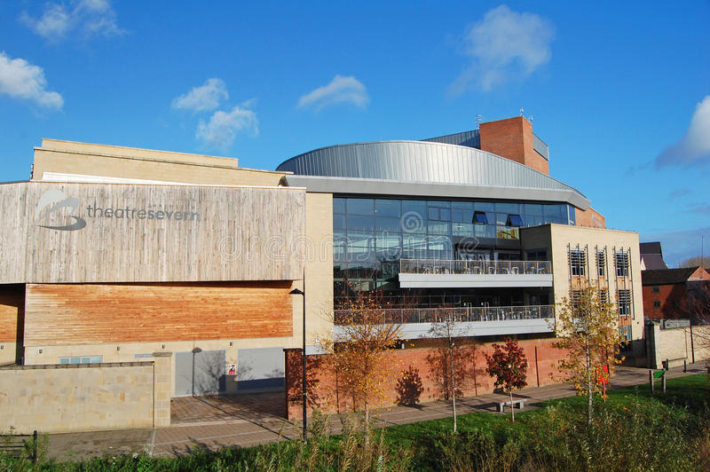 Theatre Severn Shrewsbury arkivbilder