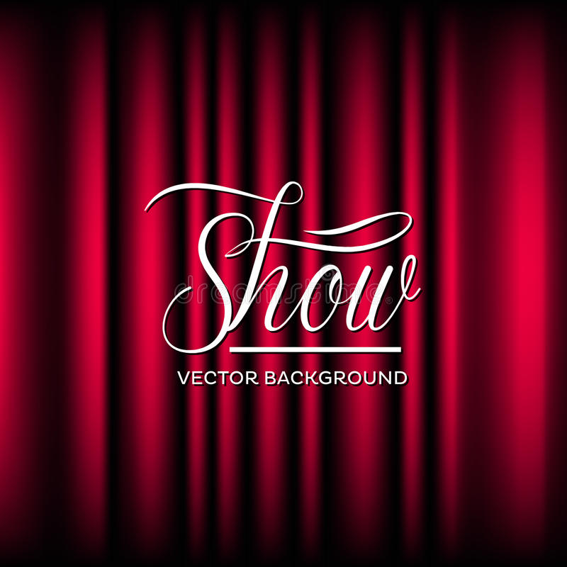Theatre Show Vector Background royalty free illustration