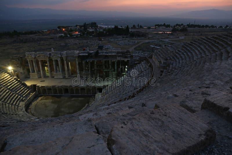 Theatre siedzenia przy Hierapolis zdjęcie royalty free