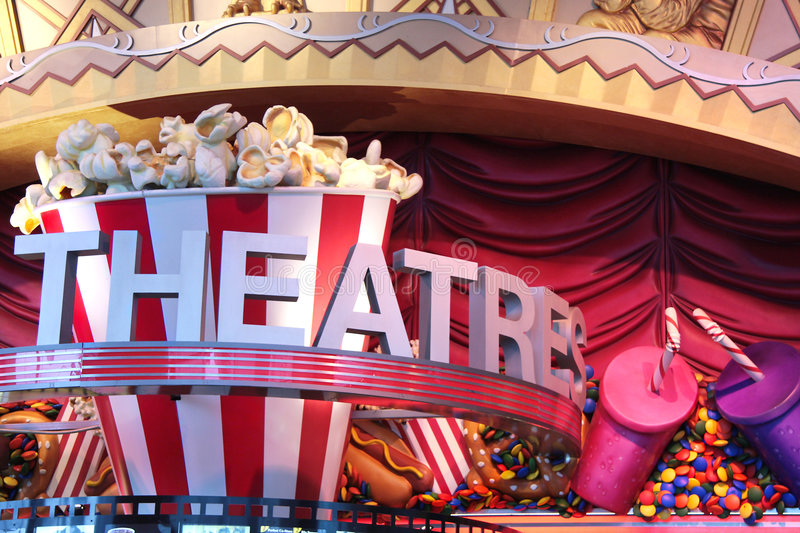 Theatre Sign Royalty Free Stock Images
