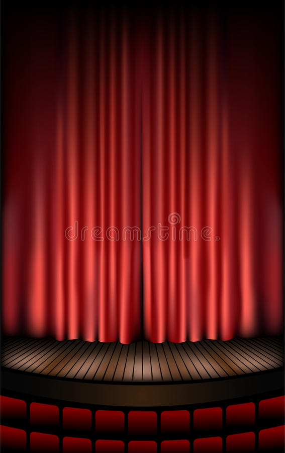 Download Theatre stage stock vector. Image of nobody, classical - 10441089
