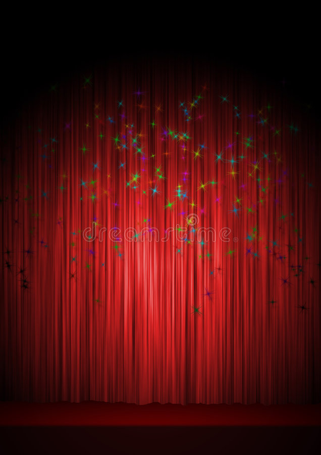 Download Theatre stage stock illustration. Illustration of front - 7298629
