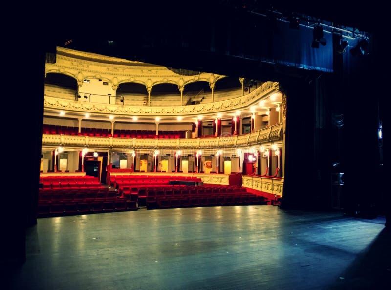 Theatre Stage in Almeria Theatre stock photo