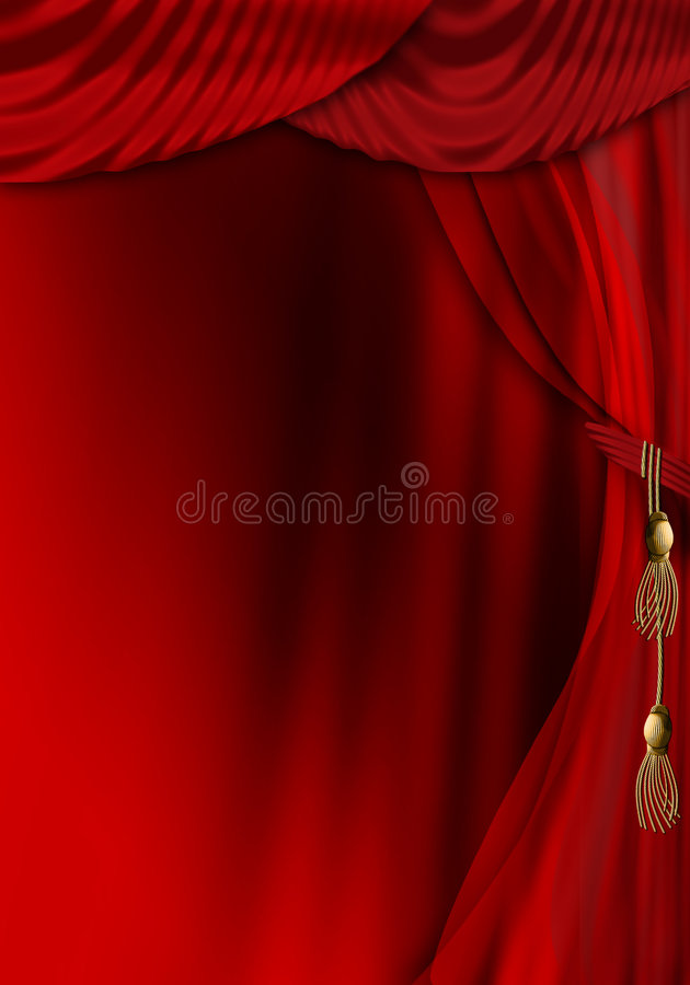 Download Theatre stage curtain stock illustration. Image of show - 4443024
