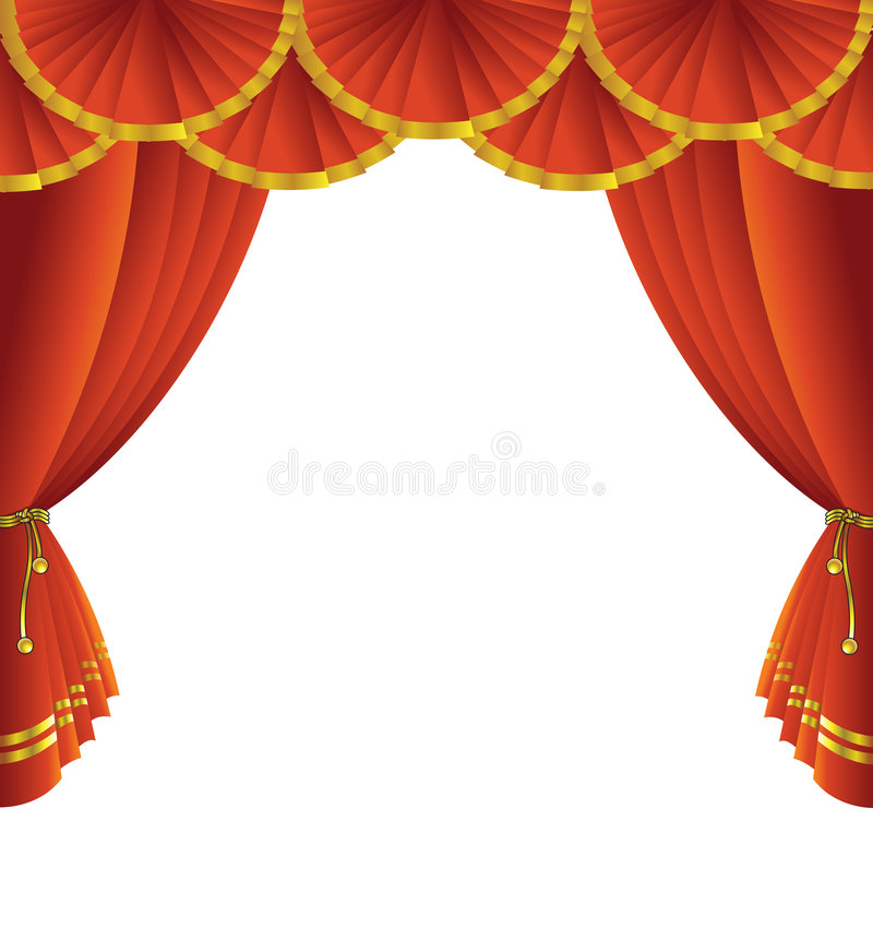 Download Theatre stage curtain stock vector. Image of entrance - 7251978