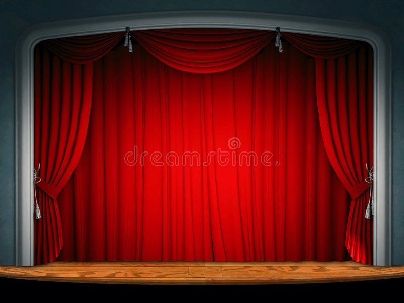 Download Theatre stage curtain stock illustration. Image of show - 7560072