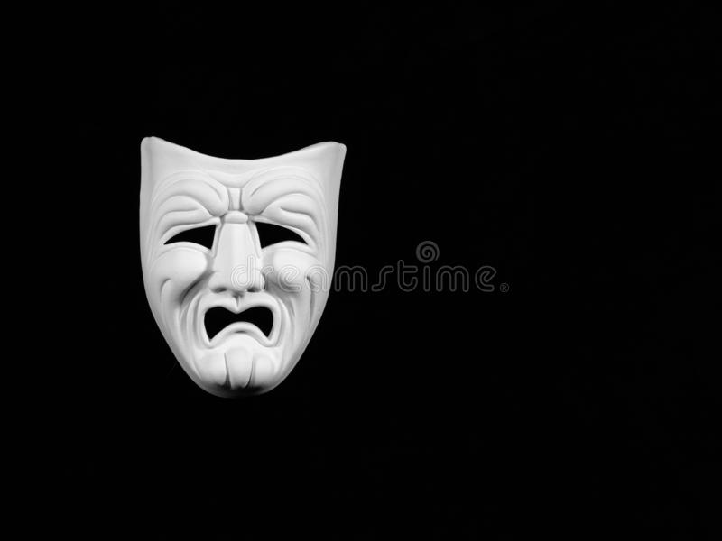 Theatre tragedy mask royalty free stock photos