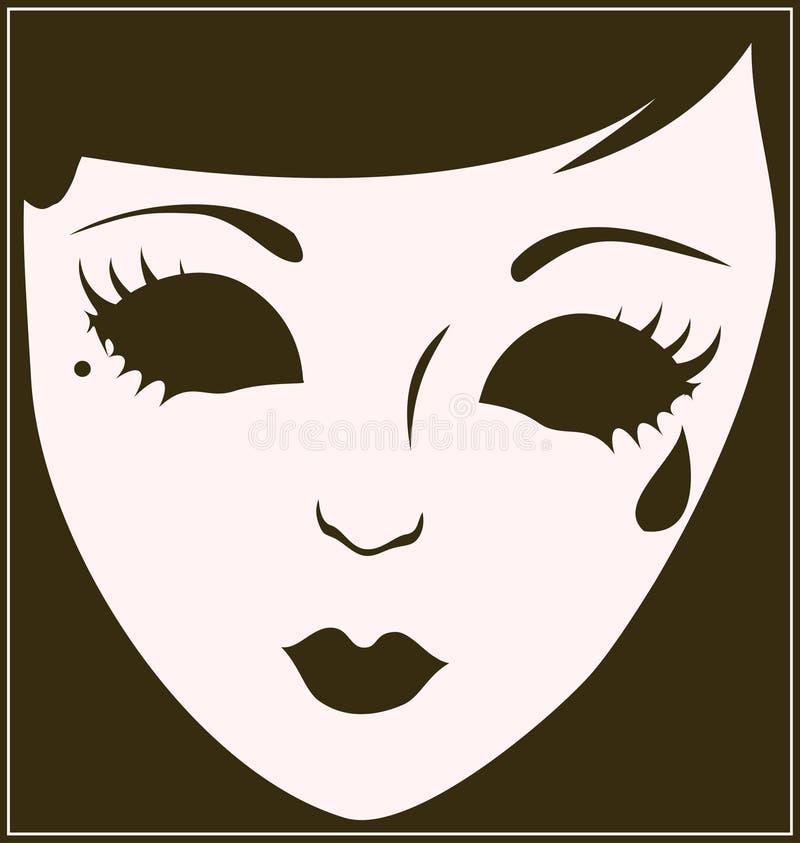 theatrical маски печали бесплатная иллюстрация