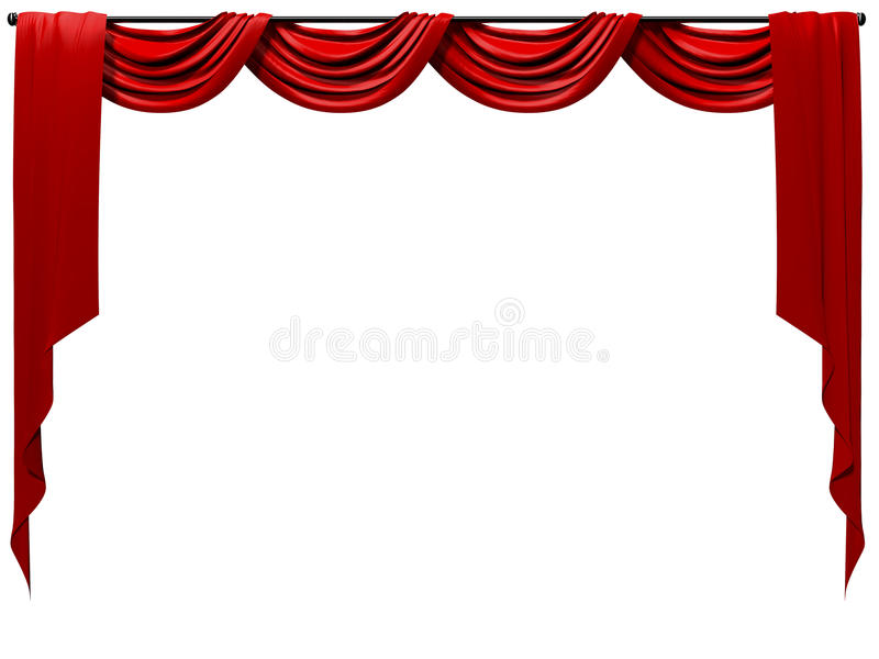 Download Theatrical Curtain stock illustration. Image of classical - 13361616