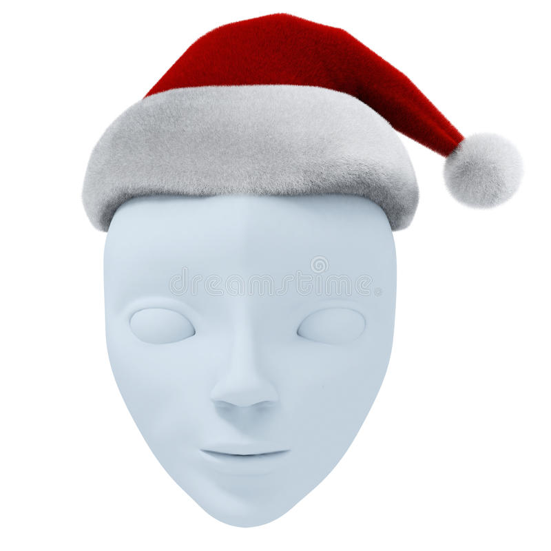 Free Theatrical Mask And Santa S Hat Stock Photography - 14608542