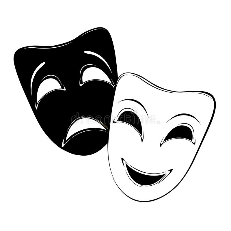 Download Theatrical masks stock vector. Illustration of actors - 29136728