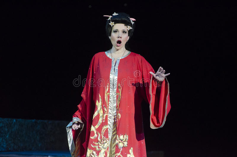 Theatrical show Vivat Chayka royalty free stock photography