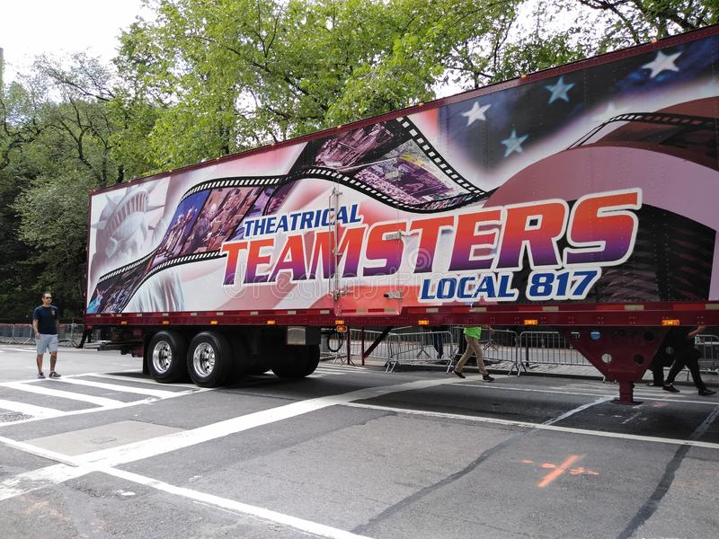 Teamsters, Theatrical Teamsters, Local 817, Labor Day Parade, NYC, NY, USA stock photography