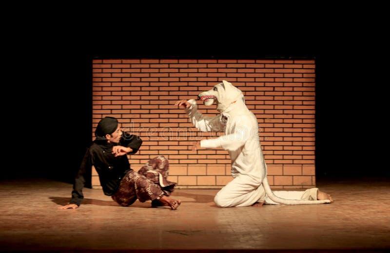 Theatrical tradizionale immagine stock
