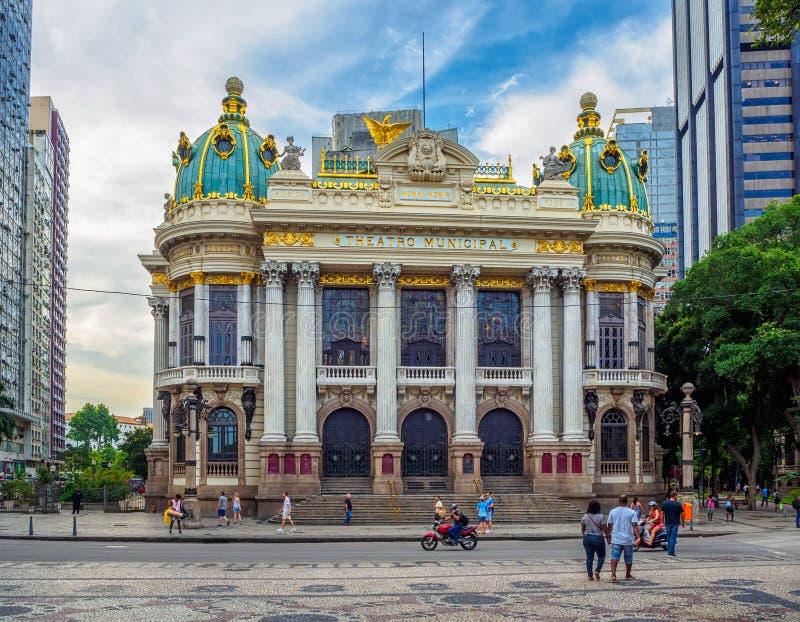 Theatro Miejski Miejski Theatre jest operą w Centro okręgu Rio De Janeiro zdjęcia royalty free