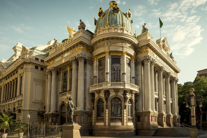 Theatro Municipal in the center of Rio de Janeiro stock photography