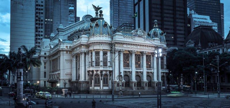 Theatro-Municipal in Rio de Janeiro, Brasilien lizenzfreies stockbild