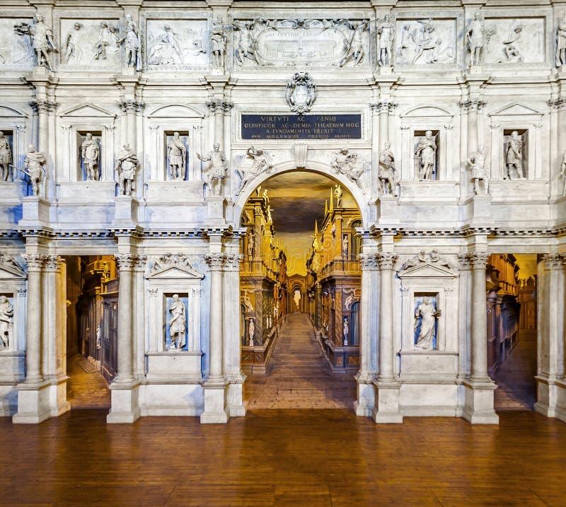 Theatro Olympico Palladio в Виченца стоковые изображения