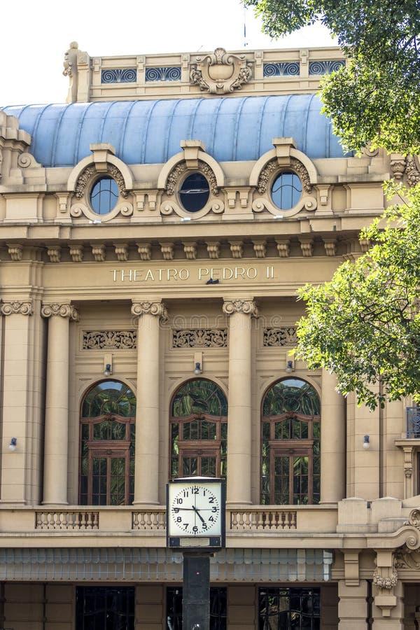Theatro Pedro II, Opernhaus von Brasilien fand in Sao Paulo stockfoto