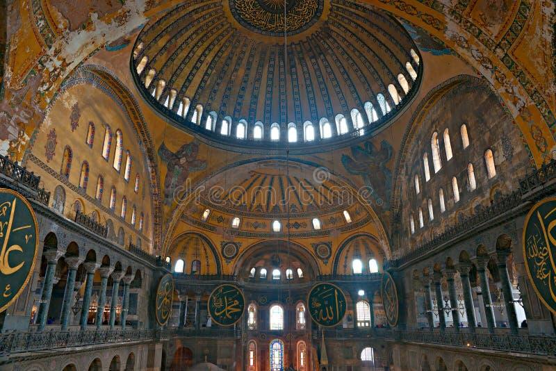 Thecupola della moschea di Hagia Sophia, Costantinopoli, fotografie stock