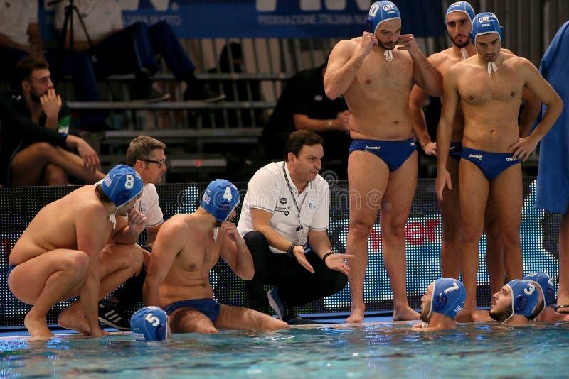 Waterpolo International Teams International Quadrangular - Hungary vs Greece royalty free stock image