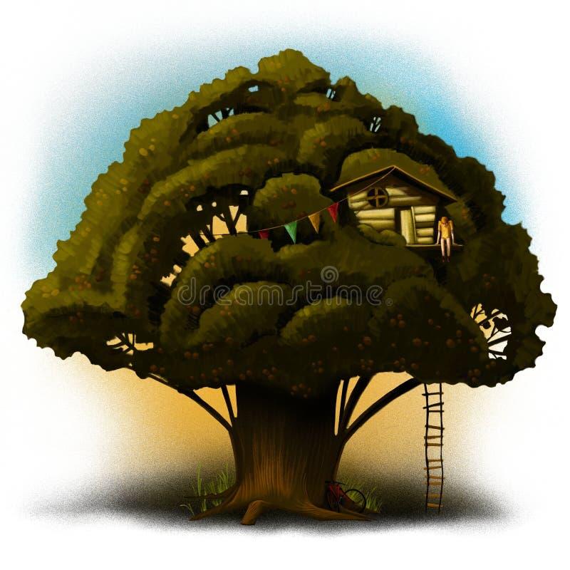 Thee della quercia illustrazione vettoriale