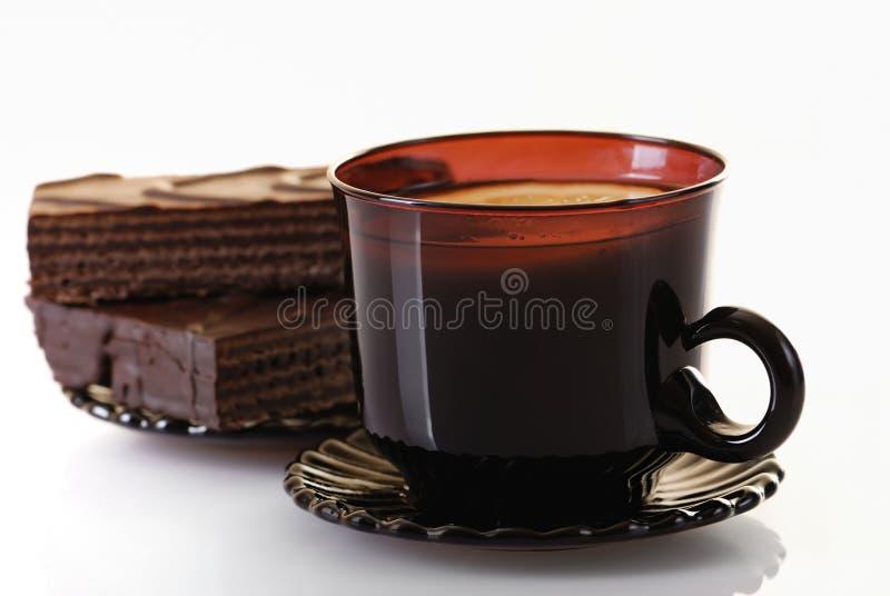Thee en cake stock foto's
