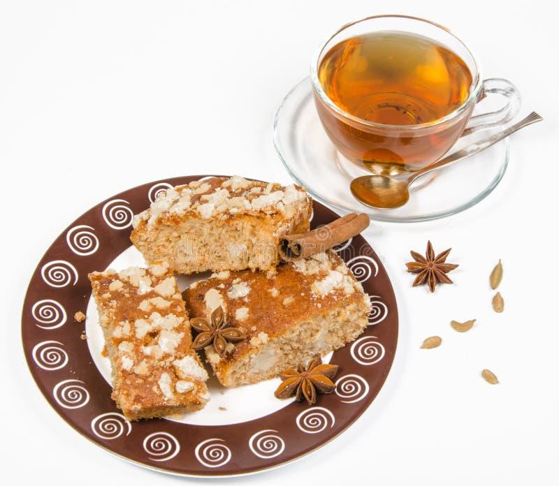 Thee en koekje stock foto