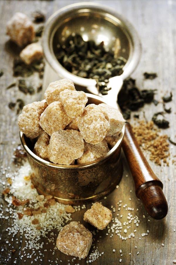 Thee en suiker stock afbeeldingen
