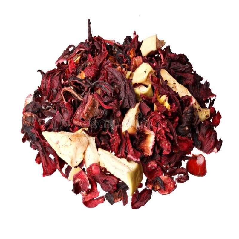 Thee van het mengsel de kruiden bloemenfruit met bloemblaadjes, droge bessen en fru royalty-vrije stock afbeelding