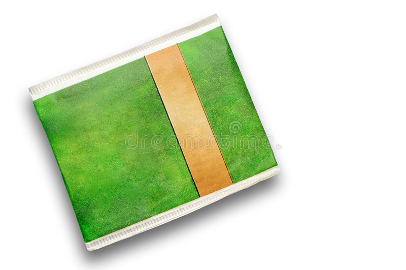 Theezakje lege envelop stock fotografie