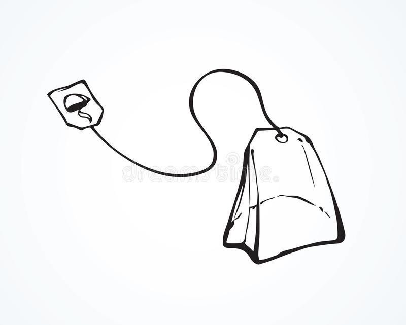 Theezakje Vector tekening vector illustratie