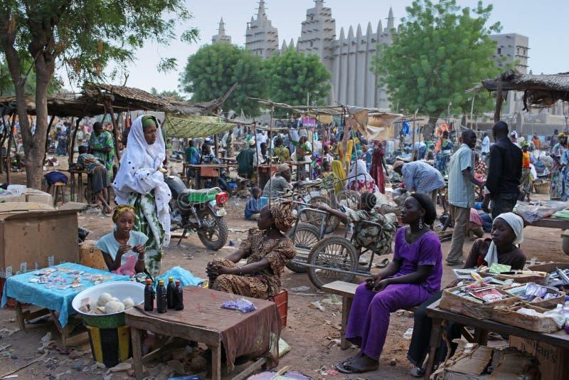 thegreat мечети рынка Мали djenne переднее стоковые изображения rf