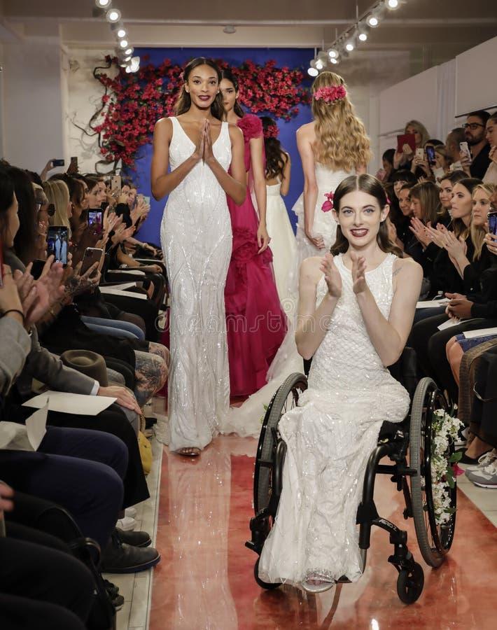 Theia Bridal Fall 2020 royalty free stock photos