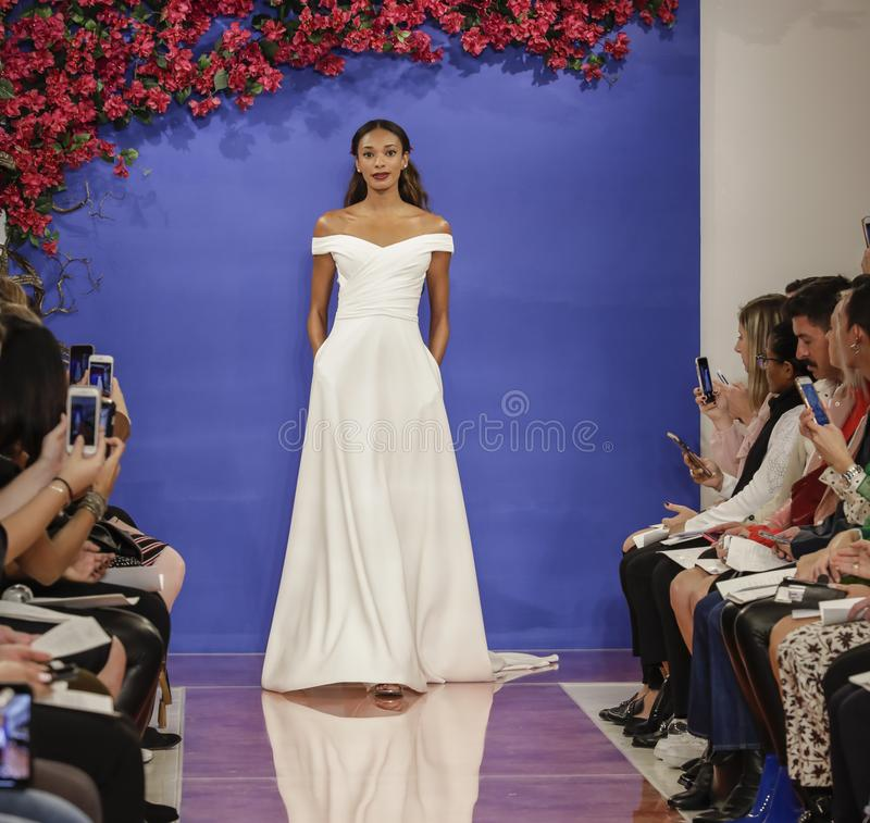 Theia Bridal Fall 2020 royalty free stock images